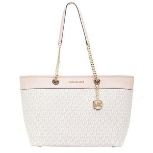 Michael Kors Shania Large Chain Canvas Tote